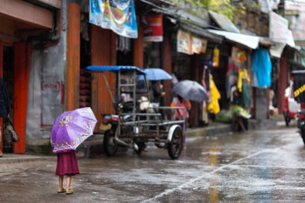 Rainy day in Lucena City, Philippines
