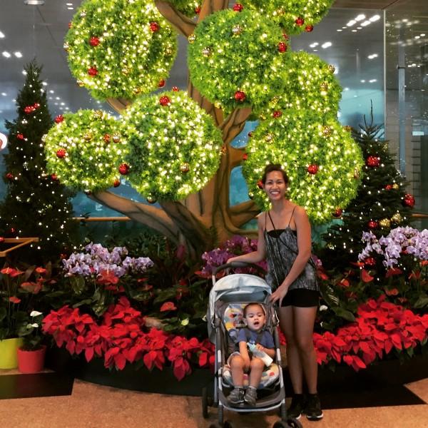 Christmas at Singapore's Changi International Airport